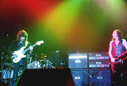 Doogie White and Ritchie Blackmore onstage