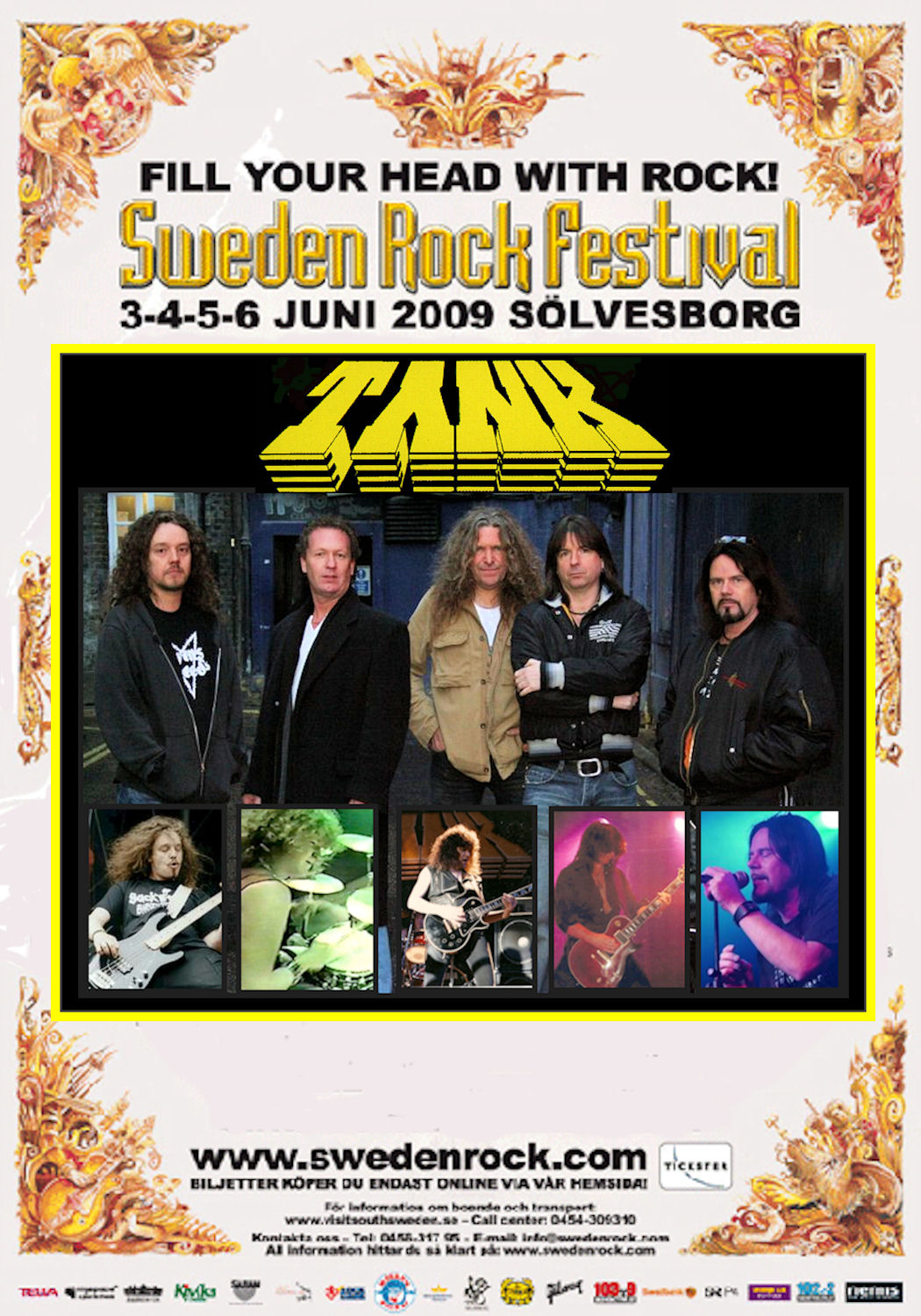 Doogie White and Tank at Sweden Rock